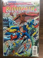 AUTOGRAPHED - Bloodbath #1 Dec. 1993 DC Comics Superman Wonder Woman Fantastic 4