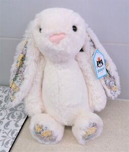 Jellycat Medium Calli Blossom Bashful Bunny ~ Cali Floral Ears Rabbit Soft Toy