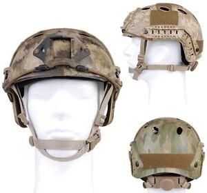 Emerson Elmetto Protettivo Fast Helmet PJ Type mimetico A-Tacs Replica Softair