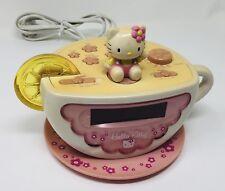 Hello Kitty Tea Cup Alarm Clock Radio Night Light