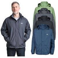 Trespass Mens Rain Coat Waterproof Hooded Jacket For Hiking Walking