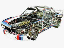 BMW 3.0 CSL Batmobile Motorsport cutaway Large promo poster