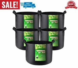 paquete de 5 bolsa de cultivo de 1 galón de alta calidad durable portátil jardín