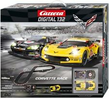 Carrera Corvette Race Digital 1:32 Scale Slot Car Race Set Track, Kids New