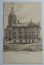 1906 Postcard Of The City Hall Brockton Massachusetts Unposted