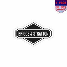 Briggs Stratton 4 pack 4x4 Inch Sticker Decal