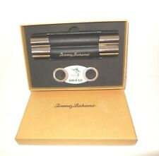 Tommy Bahama new Cigar Club Case / Cutter Set Silver NIB
