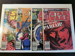 1980 S STAR WARS COMICS SEQUENCE SUPER RARE ISSUE: #59, #60, #61 AND #62 MARVEL