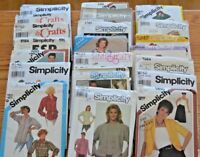 Simplicity Sewing Patterns Vintage OOP Uncut Retro 1970s 1980s and more