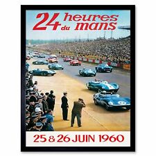 1960 Le mans 24 Hour Race Motor Racing Poster A3//A4 Print
