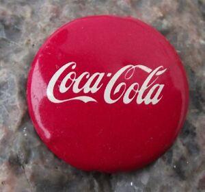 Vintage Coca Cola Soft Fizzy Carbonated Drink Coke Script Logo Pin Badge