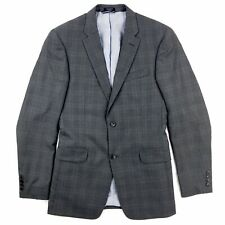 Tommy Hilfiger Mens Medium Sport Coat Blazer Gray Plaid 100% Wool
