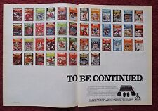 1982 Print Ad Atari Video Games Computer System ~ To Be Continued Space Invaders