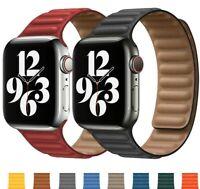 Magnetic Leather Link Strap Loop Band Bracelet Apple iWatch Series 6 5 4 3 SE