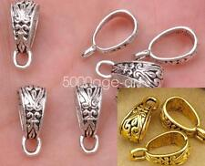 20Pcs Tibetan Silver Gold Bronze Charm Pendant Bail Connector Fit Bracelet A3079