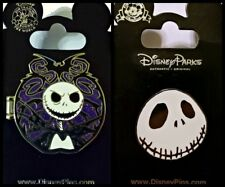 Disney Parks 2 Pin Lot NBC Jack hinged pin + Face NIGHTMARE BEFORE CHRISTMAS