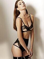 Lascivious Lila suspender garter belt mesh sexy black glamor playful Sz large