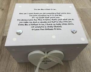 Like A Mum To Me Mam Keepsake Gift Box PERSONALISED Birthday Christmas GIFT