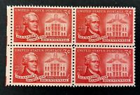 US Stamps, Scott #1086 Alexander Hamilton 1957 3c Block of 4 XF M/NH