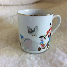 Vintage Disney Mickey N Friends Cup With Gold Rim