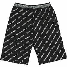 VERSACE Young Versace - Black Signature Motif Sweat Shorts - Size 7yrs