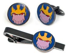 Thanos Cufflinks, Avengers Tie Clip, Comic Infinity Gauntlet Marvel Cuff Links
