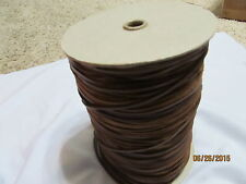 """Spool 400 yd 1/8""""  RAW EDGE LEATHER Suede Trim  single face stitched Brown"""