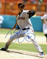 RYAN VOGELSONG SIGNED AUTOGRAPHED 8x10 PHOTO SAN FRANCISCO GIANTS PSA/DNA