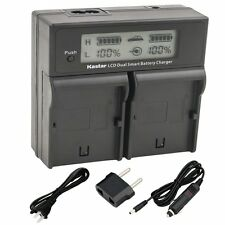 LCD Dual Fast Charger for Canon LP-E4 EOS-1D 1DS Mark 3 Mark 4
