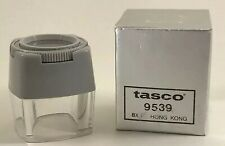 Vintage Tasco 8X Magnifier Model Original Box Focusing Lupe Hong Kong NOS 9539