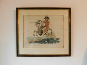 1816 hand colored Napoleonic war etching  by Romney NEWCOMB MACKLIN Label frame