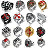 Cross Ring Unique Mens Silver Gold Tone Titanium Steel Wedding Band Ring Lots