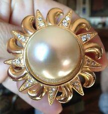 Kirks Folly Brooch Sparkling Pearl Sun Spilla Sole scintillante Perla