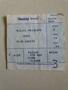 *REDUCED*  UB40 RARE CONCERT TOUR TICKET SKA REGGAE 7 th NOVEMBER 1986 WEMBLEY