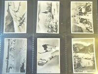 1937 WINTER SCENES skiing skating Tobacco Card comp. Set 48 cards lot vintage