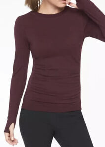 Athleta Foresthill Merino Wool Ascent Top SIZE MEDIUM ANTIQUE BURGUNDY NEW
