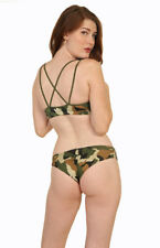 Sexy Camo Ruched Bikini Swimsuit/Made in usa/Surfer/Dancer/Model/Beachwear/s-m-l