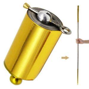 Portable Steel Metal Magic Pocket Staff flexible Magical Wand Gold Toys 110cm