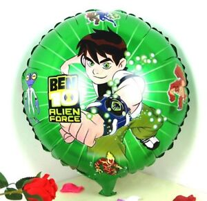 Ben 10 Ten Alien Force 4 X Balloons Cartoon helium party birthday Favours Disney