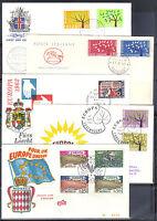 CEPT 1962 auf 18 Ersttagsbriefen, Bitte ansehen