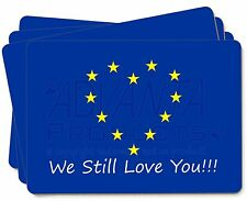 British Brexit, Europe 'We Still Love You' Picture Placemats in Gift, BRITISH-4P