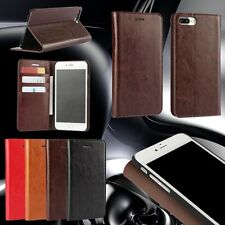 Genuine Real Leather Phone Case For Smart Phone Flip Card Holder Wallet Cover