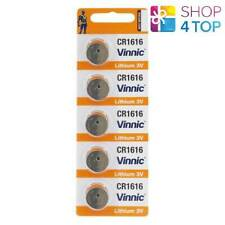 5 VINNIC CR1616 280-209 LITHIUM BATTERIES 3V CELL COIN BUTTON EXP 2022 NEW