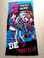 Monster High Plush Frankie Stein DRACULAURA Cotton Beach Bath Towel 75cm*150cm