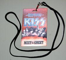 KISS 2012 The Tour Concert Meet & Greet Ticket Lenticular Laminate Pass Gene