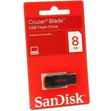 Originali Sandisk Cruzer Blade 8GB 8G CZ50 USB 2.0 Flash Chiavetta Drive