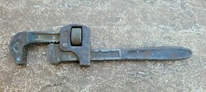 """VINTAGE  IMPROVED STILLSON 10"""" PIPE WRENCH MADE IN THE USA"""