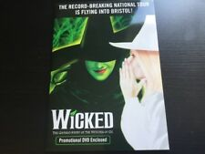 Wicked The Musical UK TOUR Bristol Preview Promo DVD and Glossy Folder RARE