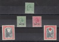 Bahamas KEVII/KGV Mint Collection of 5 MH J2344