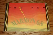 Original 1928 Marmon 68 Car Automobile Sales Catalog Brochure 28